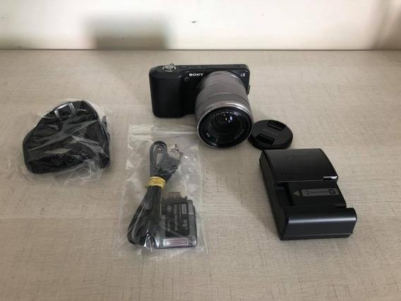 Camera Sony A Nex 3 Nova 5.500clicks 12x Sem Juros! Linda