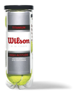 Tubo De 3 Pelotas Bolas De Tenis Wilson Titanium
