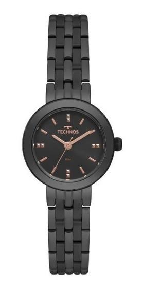 Relógio Technos Preto Elegance Boutique 2035mqn/4p