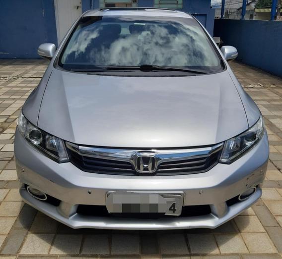 Honda Civic Exs Com Teto Solar. Top De Linha 2013