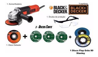 Esmerilhadeira Lixadeira 4.1/2 110 V 820w Black&decker+flap