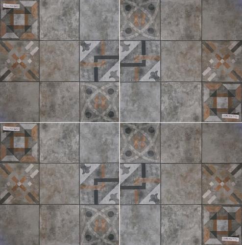 Ceramico 1cal 45,3x45,3 Patio Mix Gris Satinado San Lorenzo