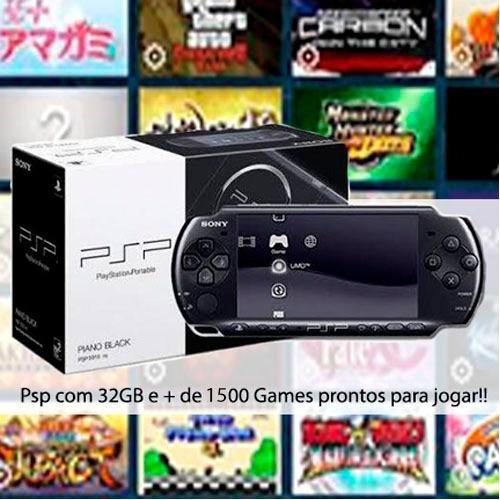 Psp 3001 ~ 3010 Com 150 Games Prontos Para Jogar + 32gb