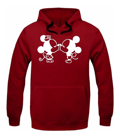 Moletom Minnie Mickey Feminino Blusa Canguru Moleton Frio Of