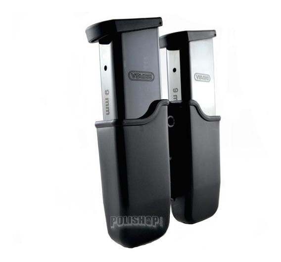 Porta Cargador Doble Táctico Polimero Rotativo 360 Universal