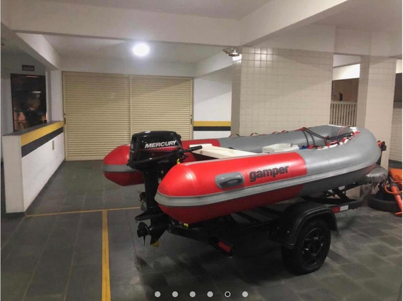 Bote Inflável + Motor 15hp + Carreta Rodoviária