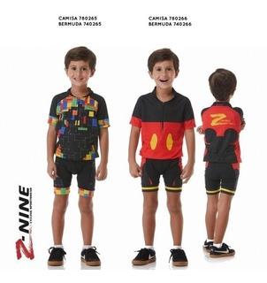 Conjunto Z Nine Infantil Ciclismo Menino E Menina 2019