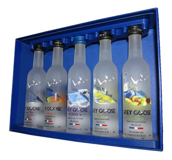 Gray Goose Caja 5 Vodkas Miniaturas Francia 50ml Nuevas