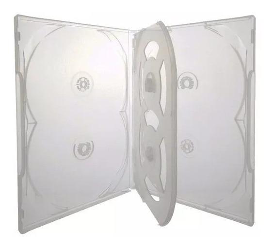 10 Estojo Caixa Capa Box Dvd Pack Transparente Sextuplo 6
