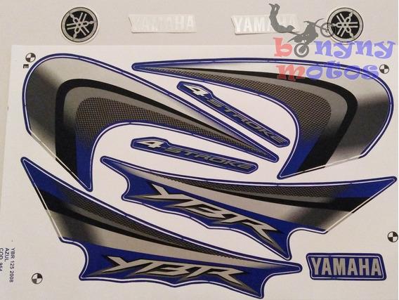 Kit Faixa Adesivo Yamaha Ybr 125 Azul 2008