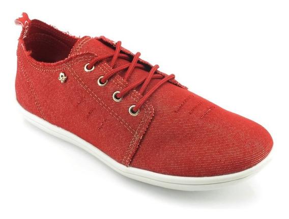 Tênis Cravo E Canela Jeans Vermelho 160003