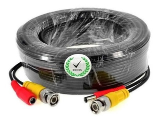 Cable Dvr 50m / Camaras / Video Y Corriente