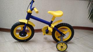 Bicicleta Infantil Aro 12 Track Azul / Amarelo