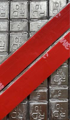 Chumbo Colante 5/10 Com Fita 3m Super Colante (vermelha)