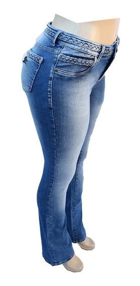 Calça Jeans Feminina Empório Flare Com Pouca Lycra Cac158