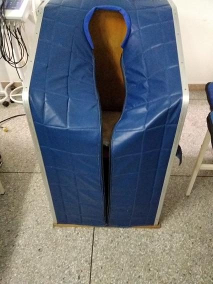 Sauna Portátil En Madera Y Lona Azul