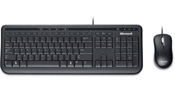 Kit Microsoft Teclado + Mouse 600 Abnt2 C/ Fio