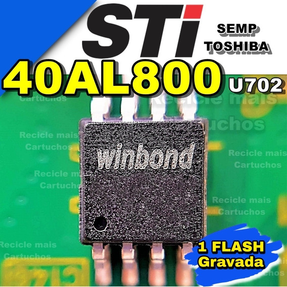 Memoria Flash Bios Tv Toshiba 40al800 U702 Eeprom Gravada