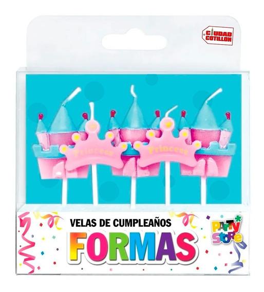 Set Velas Princesas Torta 5 Unidades - Ciudad Cotillón
