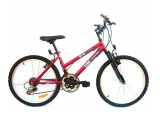 Bicicleta Gm 19133 Rodado 24 Dama Suspensión Mountain Bike