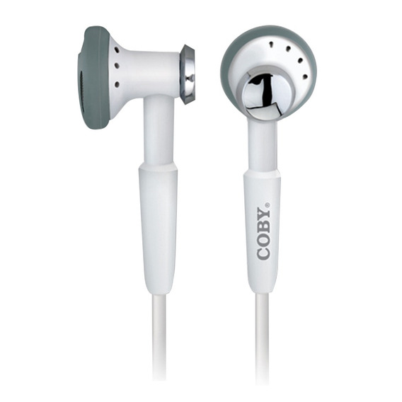 Fone De Ouvido Intra-auricular 2,5mm Coby Cve972 Branca