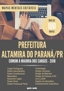 100 Mapas Mentais Concurso Prefeitura Altamira Paraná - Pr