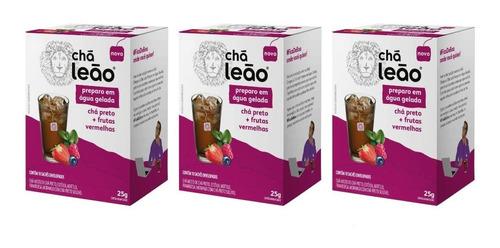 Imagem 1 de 1 de Leão Cold Brew Preto/vermelhas Chá Gelado C/10 (kit C/03)