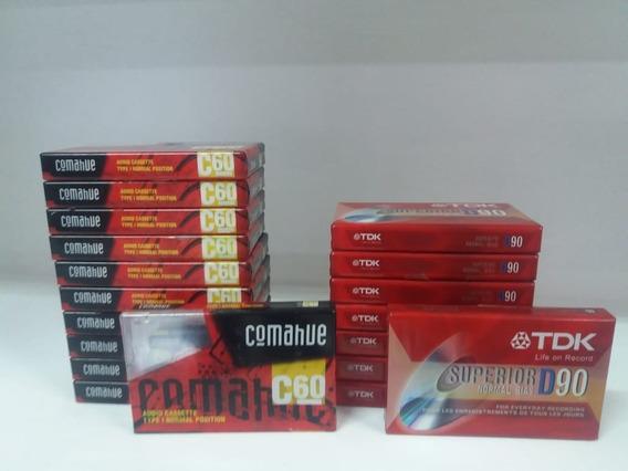 19 Cassette Audio Combo - 8 Marca Tdk D90 Y 11 Comahue C60