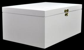 Caixa Lisa Dobradiça E Feixo 45x30x15 Pintada - Mdf Madeira