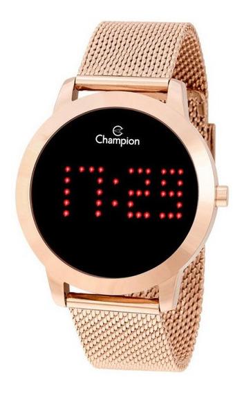 Relógio Champion Rose Digital Led Vermelho Ch40017p