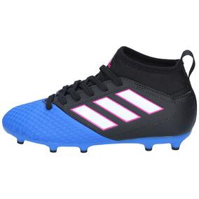 Zapatos Fútbol adidas Niños Ace 17-3 Primemesh Negro Azul-29