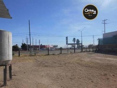 Excelente Terreno Plano Sobre La Carretera Hermosillo-nogales, Ubicado Entre Carolina Block Y Plasti