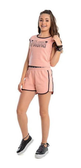 Blusa Teen Cropped Angerô Girl Gang Rose V20 - 23011