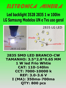 Led Backlight Tv Lg 2835 Smd 1w 3v Original 8 Unid P/ Barra