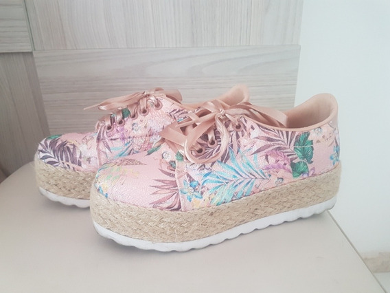 Sapato De Fita De Cetim