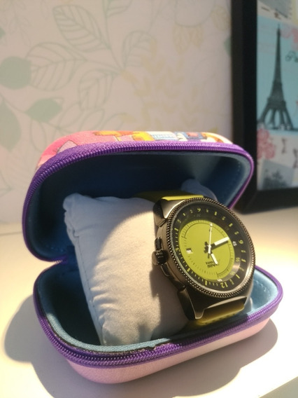 Relógio Caixa Aço Inox Chilli Beans Masculino Verde Militar