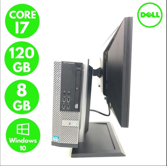 Desktop Com Monitor Fullhd Dell 7010 Core I7 Ram 8gb