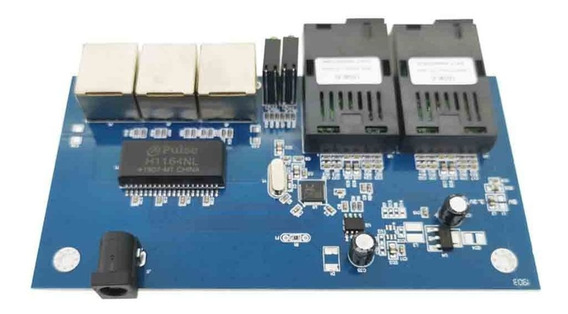 10/100 Switch Conversor 25km Fibra Óptica Ethernet 3 Rj45