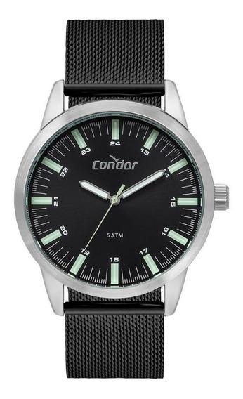 Relógio Masculino Condor Co2035mtb/3p 44mm Aço Preto