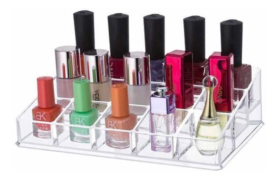 Organizador Esmaltes Acrílico 15 Divisiones Maquillaje