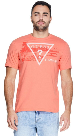 Playera Guess Hawaii Logo Crew Tee