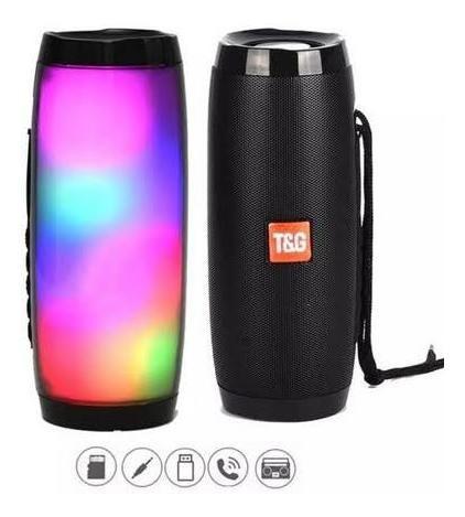 Caixa De Som Bluetooth Charge Led Neon Usb Mp3 Pórtatil