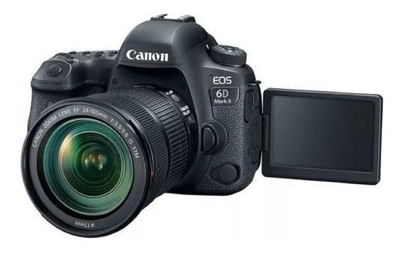 Câmera Canon Eos 6d Mark Il C/ 24-105mm F / 3.5-5.6 Stm Orig