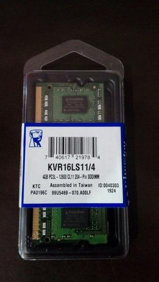 Memoria Sodimm Ddr3 4gb Kingston 1600 Mhz 1.35v Kvr16ls11/4