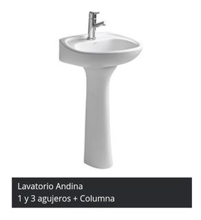 Lavatorio Linea Andina 3 Agujeros Mas Columna