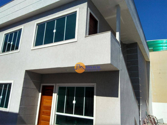 Casa Tipo Apartamento Quintal/terraço, A 100m Da Rodovia, Rio Das Ostras. - Ca1006