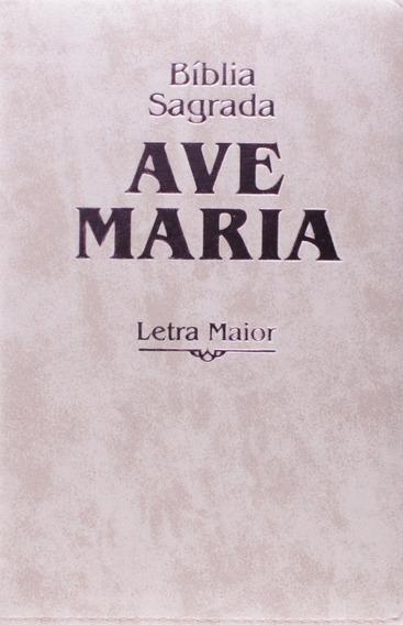 Bíblia Sagrada Ave-maria - Letra Maior - Strike Rosa Zíper