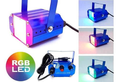 Mini Strobo Laser Led Efeito Flash Jogo De Luz Rgb 20w