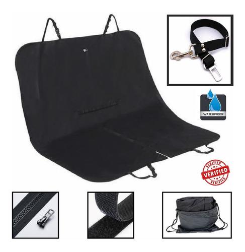 Pet Seat Cover Protector Mascota Carro Negro Sencillo