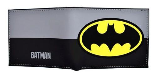Imagen 1 de 1 de Cartera Batman Gris Negro Dc Comics Superheroes Billetera